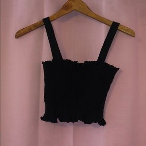 Urban Outfitters Black Cropped Top